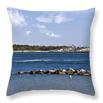 St. Andrews Island Throw Pillow by Susan Leggett