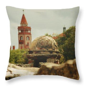St. Augustine Castillo De San Marcos  Throw Pillow by Toni Hopper