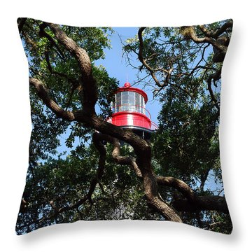 St Augustine Tree House Throw Pillow by Skip Willits