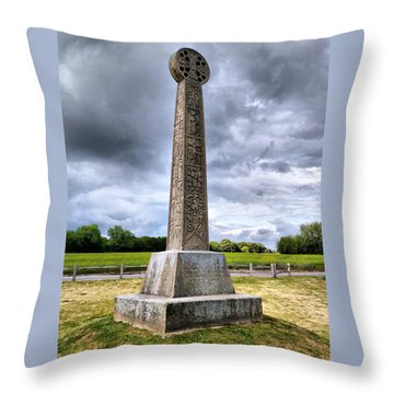 Throw Pillow featuring the photograph St Augustines Cross by Steve Taylor
