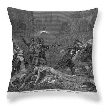 St Bartholomews Massacre Throw Pillow by Granger