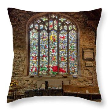 St Dyfnog Throw Pillow by Adrian Evans