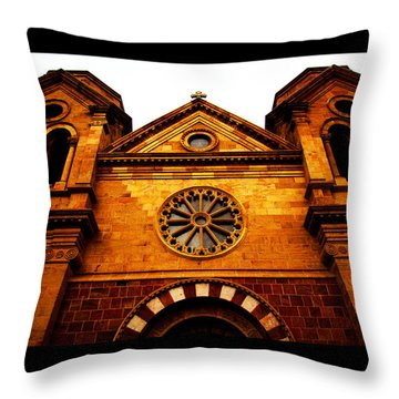 Throw Pillow featuring the photograph St. Francis Basilica Cathedral by Susanne Still
