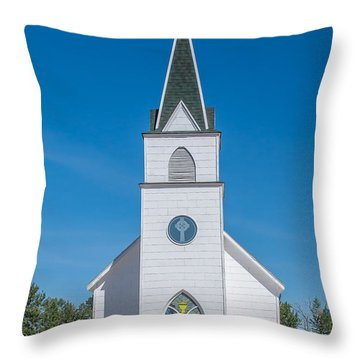 Throw Pillow featuring the photograph St. John The Evangelist Catholic Church by Fran Riley