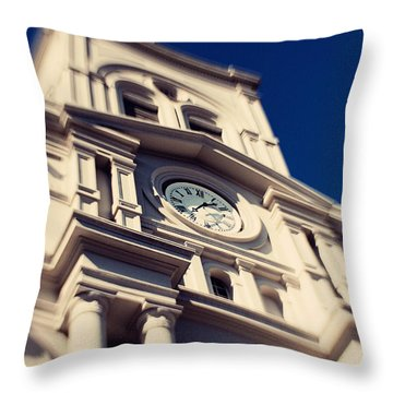 St Louis Cathedral Throw Pillow by Erin Johnson