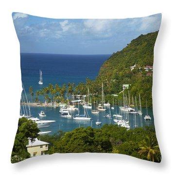 St Lucia Throw Pillow