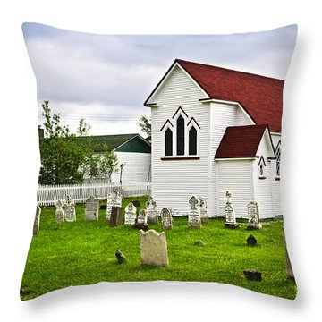 St. Luke's Church In Placentia Newfoundland Throw Pillow by Elena Elisseeva