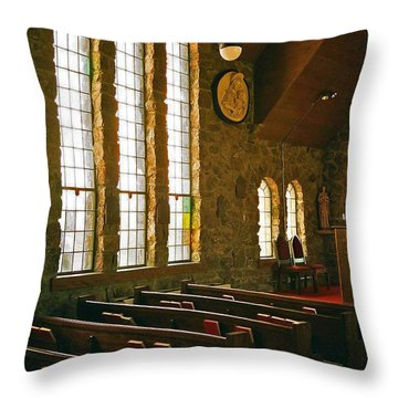 Throw Pillow featuring the photograph St Malo Church by David Pantuso