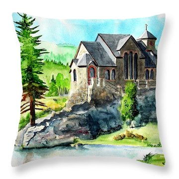 Throw Pillow featuring the painting St. Malo Summer by Tom Riggs