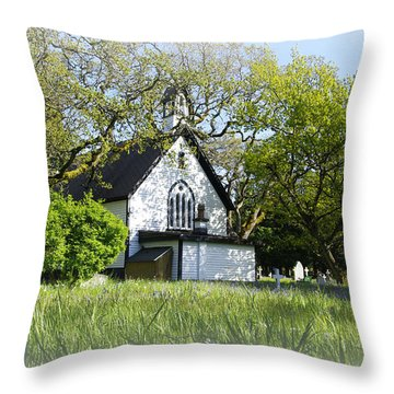 St. Mary The Virgin Anglican Church Throw Pillow