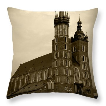St. Mary's Basilica Throw Pillow by Kamil Swiatek