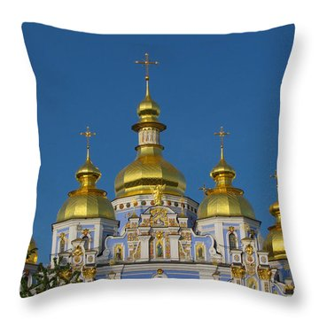 Throw Pillow featuring the photograph St. Michael's Cathedral by David Gleeson