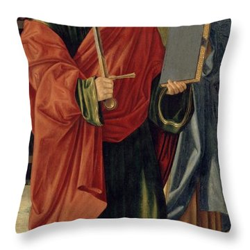 St. Paul And St. James The Elder Throw Pillow by Cristoforo Caselli