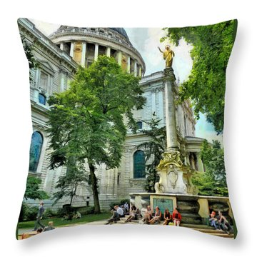 St Paul Is Giving His Blessing Throw Pillow by Steve Taylor