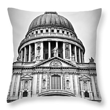St. Paul's Cathedral In London Throw Pillow by Elena Elisseeva