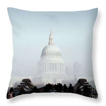 St Paul's Cathedral Throw Pillow by Pixel  Chimp