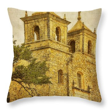 Throw Pillow featuring the photograph St. Peter The Apostle Church by Joan Bertucci