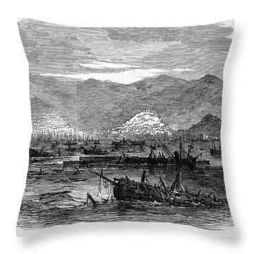 St. Thomas: Earthquake Throw Pillow by Granger