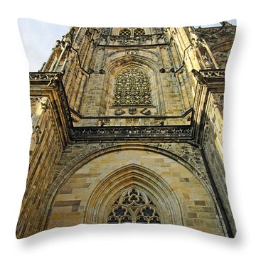 St Vitus Cathedral Prague - The Realms Of 'non-being' Throw Pillow by Christine Till