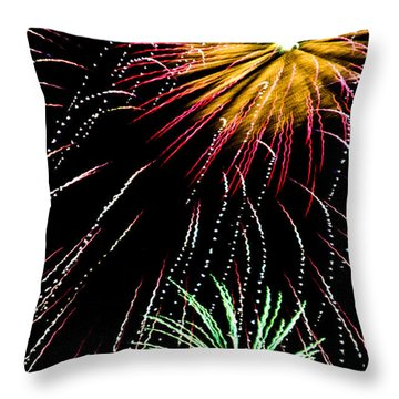 Staccato Throw Pillow by Lynne Jenkins