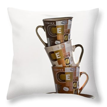 Stack Them Up Throw Pillow by Evelina Kremsdorf
