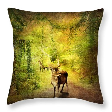 Stag Throw Pillow by Svetlana Sewell