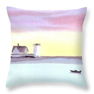 Stage Harbor Throw Pillow by Joseph Gallant