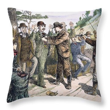 Stagecoach Robbery, 1880s Throw Pillow by Granger