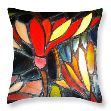 Stained Glass Four Throw Pillow