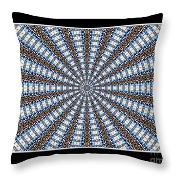 Stained Glass Kaleidoscope 32 Throw Pillow by Rose Santuci-Sofranko