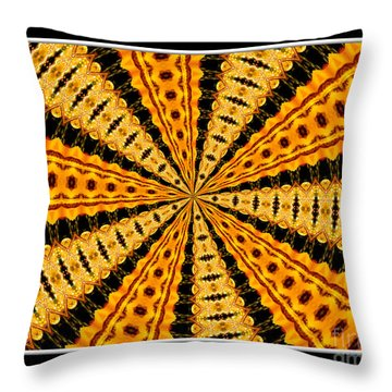 Stained Glass Kaleidoscope 37 Throw Pillow by Rose Santuci-Sofranko