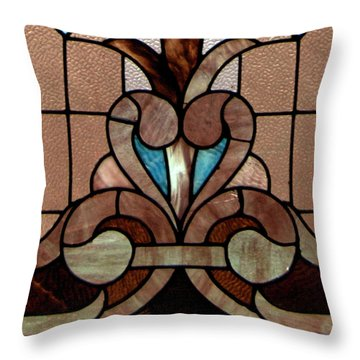 Stained Glass Lc 06 Throw Pillow by Thomas Woolworth