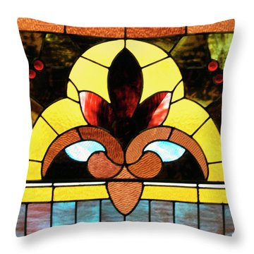 Stained Glass Lc 07 Throw Pillow by Thomas Woolworth