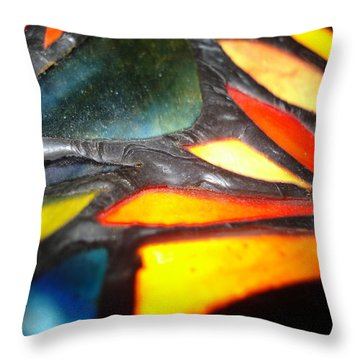 Stained Glass One Throw Pillow