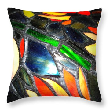 Stained Glass Three Throw Pillow