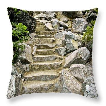 Staircase To Eagle Falls Lake Tahoe Throw Pillow by LeeAnn McLaneGoetz McLaneGoetzStudioLLCcom