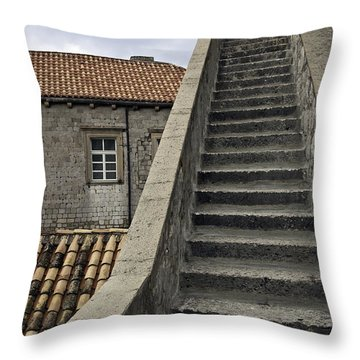 Stairs 1 Throw Pillow by Madeline Ellis