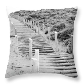 Stairs At Baker Beach Throw Pillow