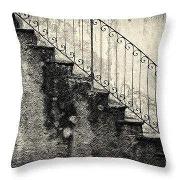 Stairs On A Rainy Day Throw Pillow