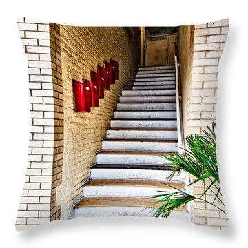 Stairway Throw Pillow by Christopher Holmes