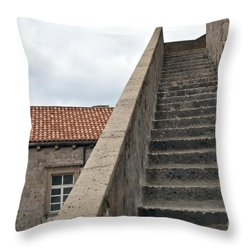 Stairway In Dubrovnik Throw Pillow by Madeline Ellis