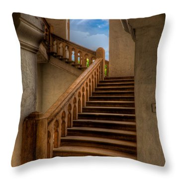 Stairway To Heaven Throw Pillow by Adrian Evans