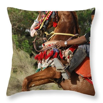 Stallion Throw Pillow by Igor Sinitsyn
