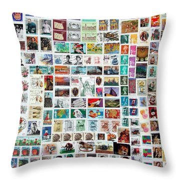 Stamparely Throw Pillow by Anna Ruzsan