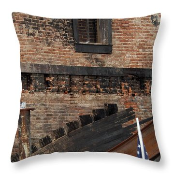 Throw Pillow featuring the photograph Stand By Me by Wanda Brandon