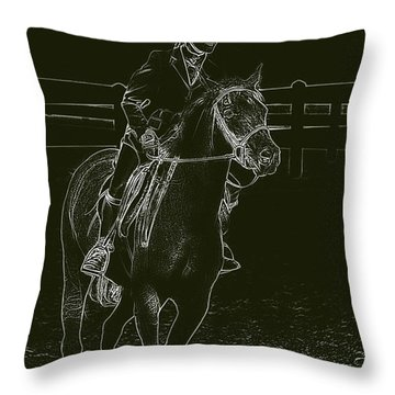 Stand Out Glowing Duo Throw Pillow by Karol Livote