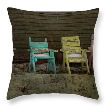 Standing For All Colours  Throw Pillow by Empty Wall
