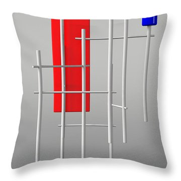 Standing Guard  Throw Pillow by Richard Rizzo