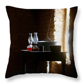 Throw Pillow featuring the photograph Standing In The Shadow Of Time by Vicki Pelham