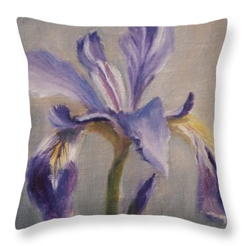Standing Tall Throw Pillow by Debbie Lamey-MacDonald